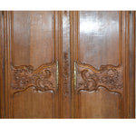 Antique oak wood French Wedding Armoire Wardrobe, circa 1780's - French Antiques www.Decoparis.com