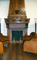 19th Century French Antique Walnut Trumeau Fireplace - circa 1880's - New York - French Antiques www.Decoparis.com