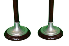 1930's pair of signed Art Deco Mazda floor lamps (Torchiere) - New York - French Antiques www.Decoparis.com