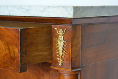 Vintage French Empire Mahogany and Ormolu-Mounted Escritoire or Secretaire - New York - French Antiques www.Decoparis.com