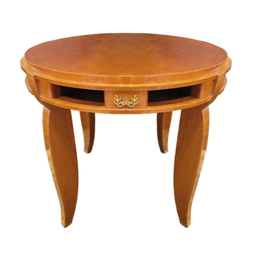 1930's Art Deco Jules Leleu Gueridon, Rosewood Inlaid marquetry - New York - French Antiques www.Decoparis.com