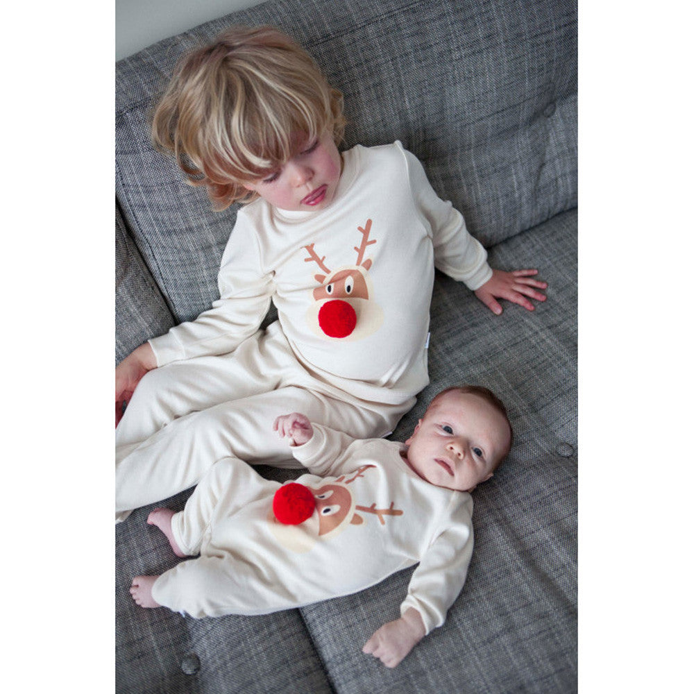 7035140f0db4 Load image into Gallery viewer, kids christmas shirts outfits Toddler  Infant Baby Boy Girl Deer ...