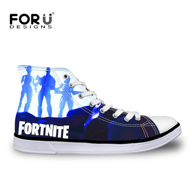 Boys Teenager High-top Vulcanized Shoes