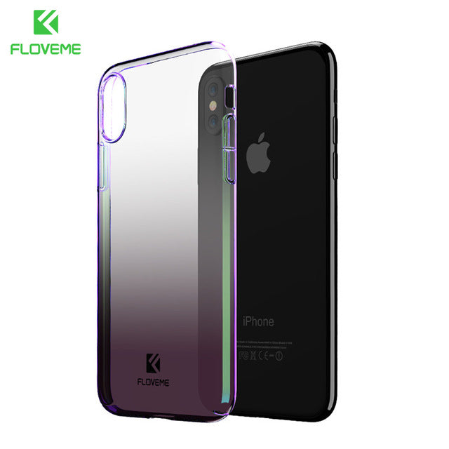 1b8493e68f3b0f ... FLOVEME Phone Cases For iPhone X XS MAX Luxury Blue Ray Ultra Hard  Protective Back Cover
