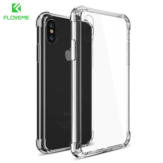 outlet store bfb7b d1829 FLOVEME For iPhone X XS Max Case For iPhone 7 8 Plus Shockproof Soft  Silicone Phone Case For iPhone XS XR 8 7 Cover Coque Funda