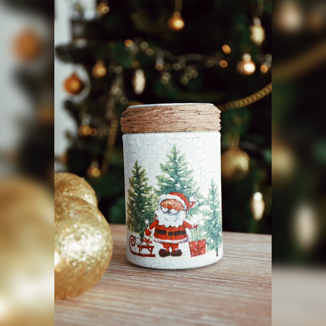Winter Collection, Classic Christmas, Recycled Glass Jar