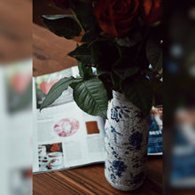 Load image into Gallery viewer, Blue Floral Vase