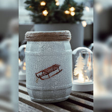 Load image into Gallery viewer, Winter Collection, Iceskating Mood, Recycled Glass Jar