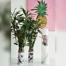 Load image into Gallery viewer, Pop Art Inspired Large Vase with Zebra
