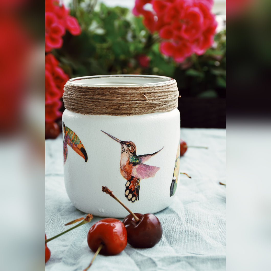 NOT BASIC Summer Birds Collection, Wide Candle Holder