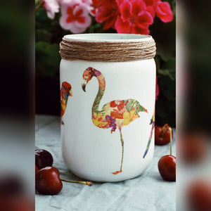 NOT BASIC Summer Birds Collection, Slim Candle Holder
