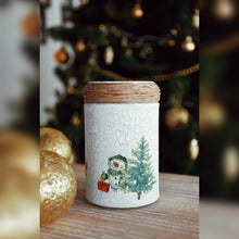Load image into Gallery viewer, Winter Collection, Classic Christmas, Recycled Glass Jar