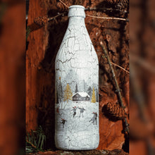 Load image into Gallery viewer, Winter Collection, Iceskating Mood, Upcycled Glass Bottle