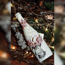 Load image into Gallery viewer, Winter Collection, Upcycled Champagne Bottle with Reindeer
