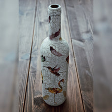 Load image into Gallery viewer, Tropical Birds, Upcycled Glass Bottle
