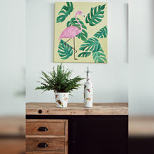 Load image into Gallery viewer, Tropical Birds, Upcycled Glass Pot