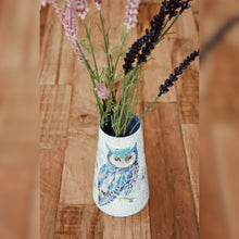 Load image into Gallery viewer, Night Owl Upcycled Vase