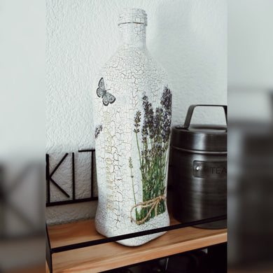 Provence Inspired Upcycled Olive Oil Bottle