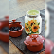 Load image into Gallery viewer, Sunflowers Upcycled Glass Jar