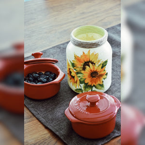 Sunflowers Upcycled Glass Jar