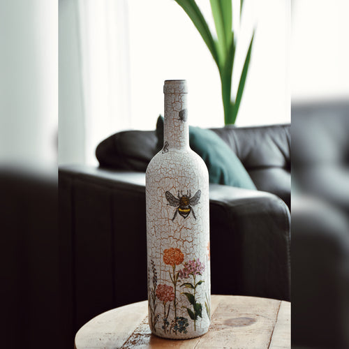 Urban Garden, Upcycled Glass Bottle