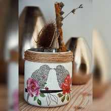 Load image into Gallery viewer, Love Birds Recycled Jar