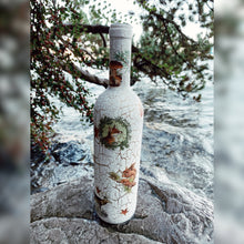 Load image into Gallery viewer, Forest Friends, Upcycled Glass Bottle
