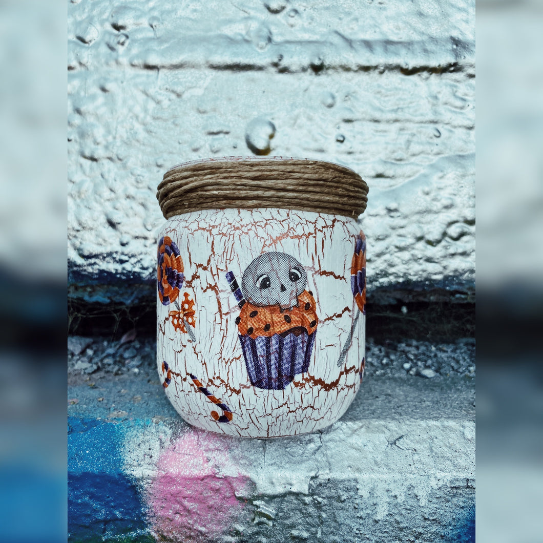 Halloween Special, Upcycled Glass Jar