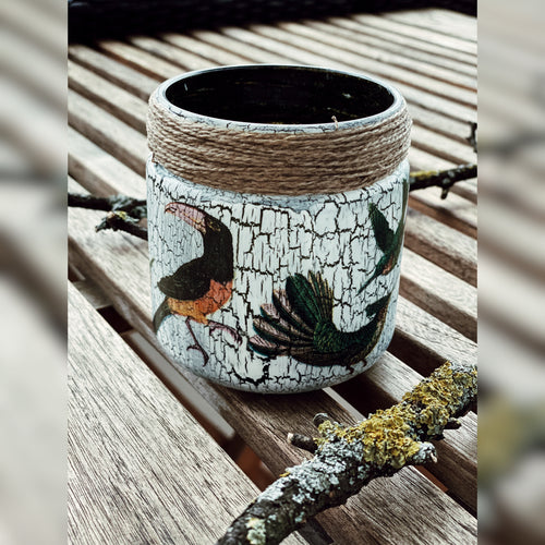Tropical Birds Candle Holder