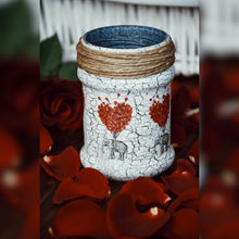 Load image into Gallery viewer, Love Carries All Inspired Upcycled Glass Jar