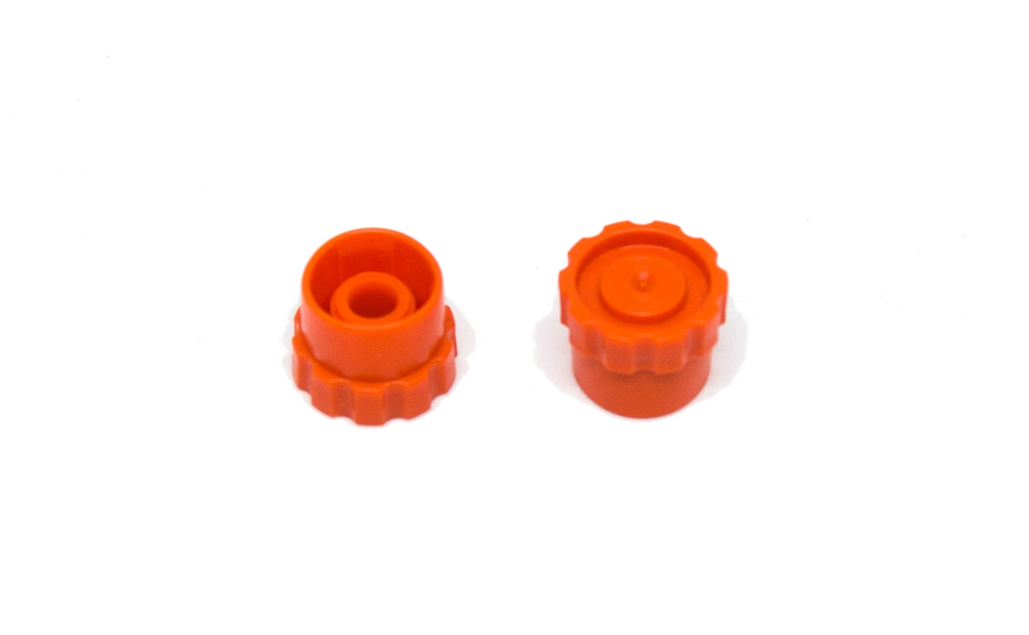ORANGE ROUND LUER LOCK TIP CAP BOTH SIDES