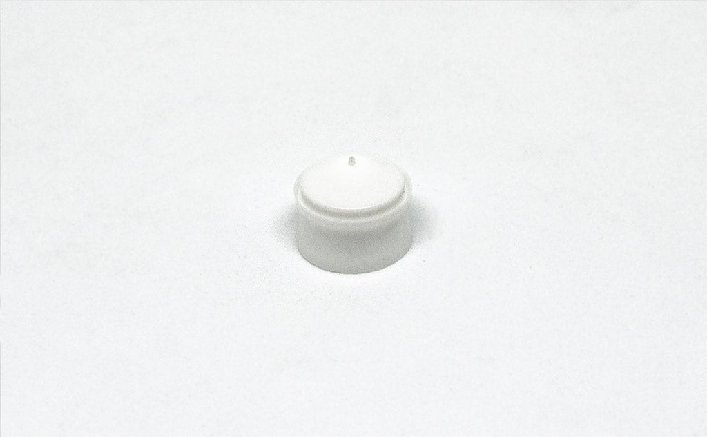 3cc White Syringe Piston front
