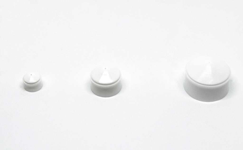 different sizes white wiper pistons