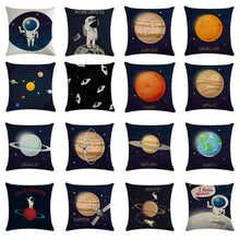 Load image into Gallery viewer, Astronaut Solar System Exploration Pillowcases
