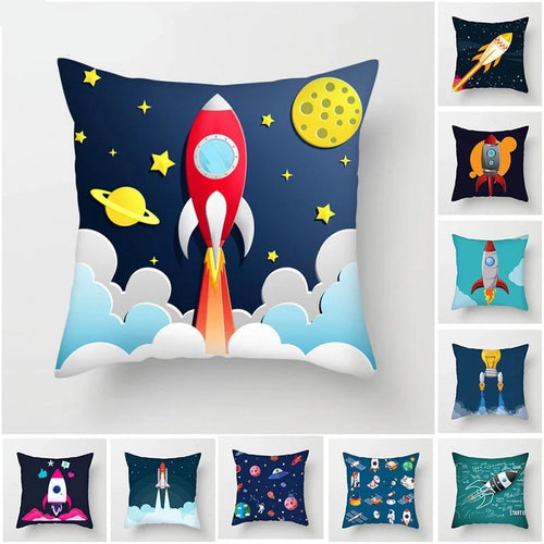 Cartoon Spacecraft Pillowcase