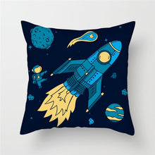 Load image into Gallery viewer, Cartoon Spacecraft Pillowcase