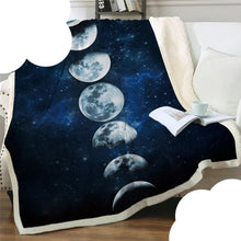 Load image into Gallery viewer, Moon Eclipse Sherpa Throw Blanket