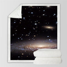 Load image into Gallery viewer, Milky Way Galaxy Sherpa Throw Blanket