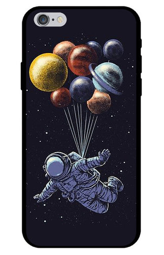 Astronaut Planet Balloon iPhone Case