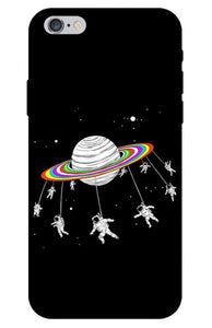 Astronaut Swing from Planet iPhone Case