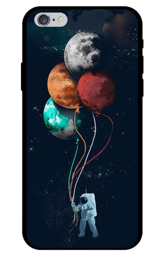 Astronaut Space Walk with Balloon Planets iPhone Case