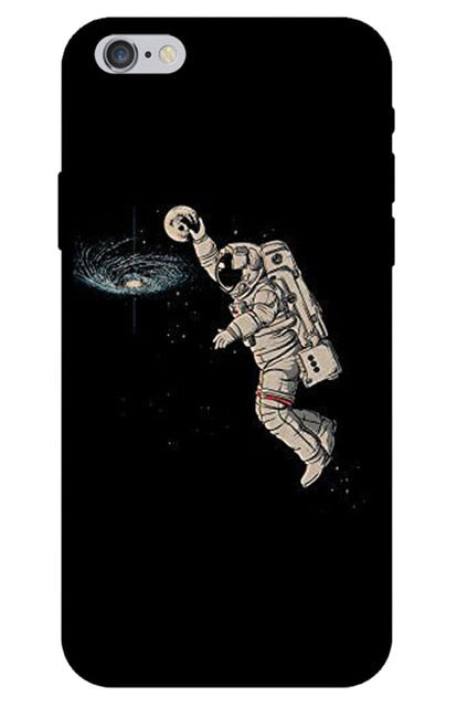 Astronaut Slam Dunk iPhone Case