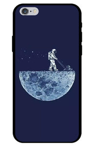 Astronaut Mowing the Moon iPhone Case