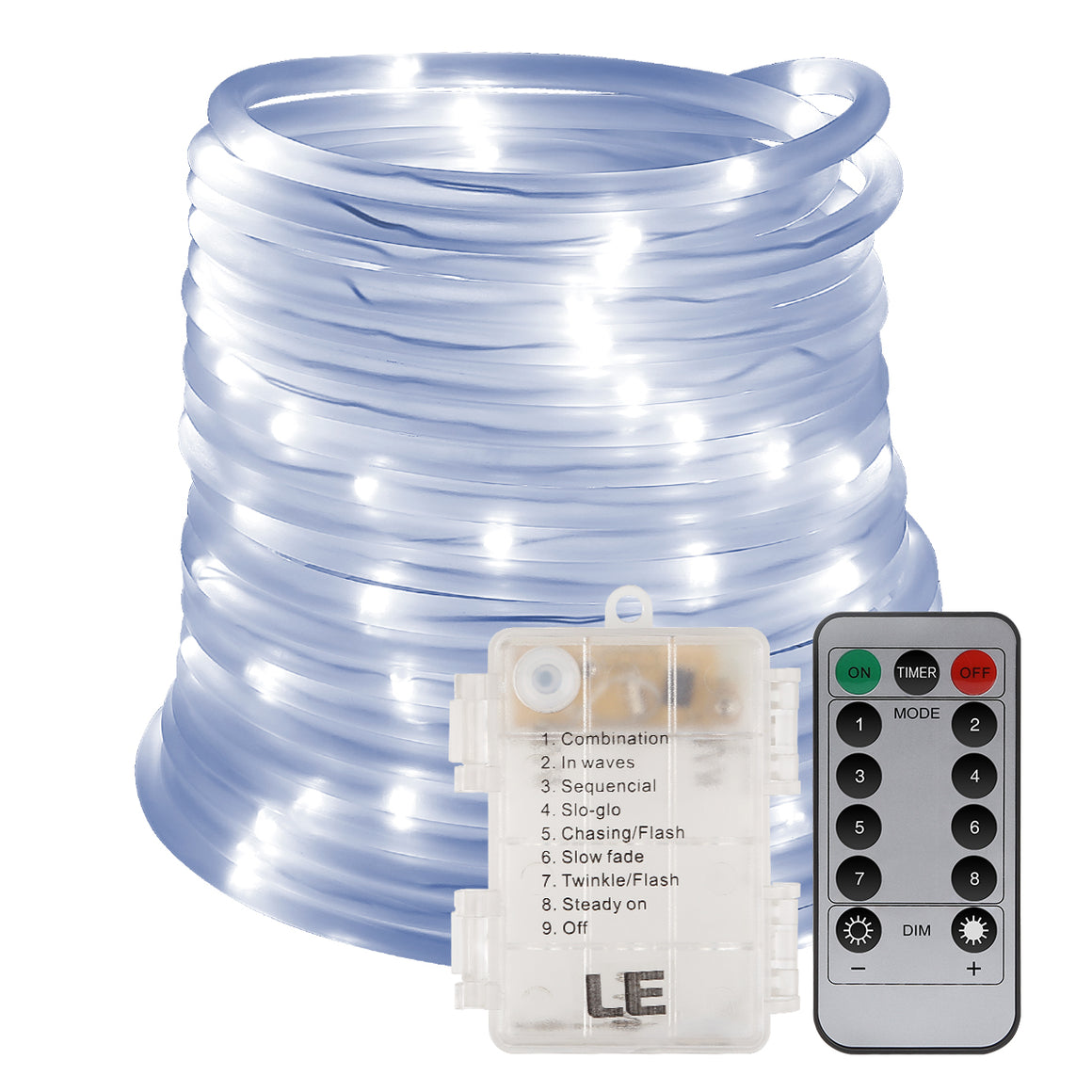 33ft/10m LED Rope Lights Outdoor
