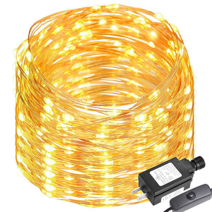 65ft/20m 200 LEDs Copper Wire Lights