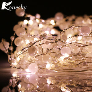 60 LED Pearl Copper Wire String Lights