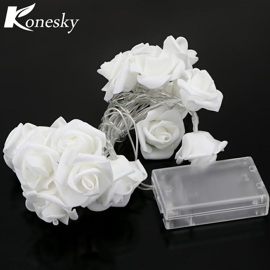 LED Rose Flower With Battery Box