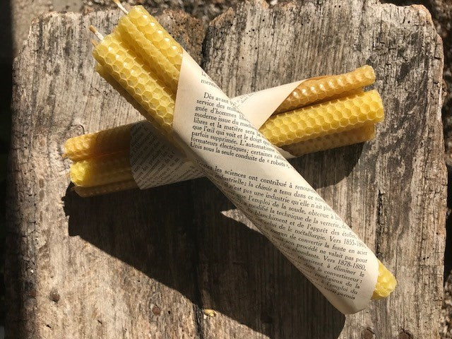 Beeswax Candles - Pack of 4