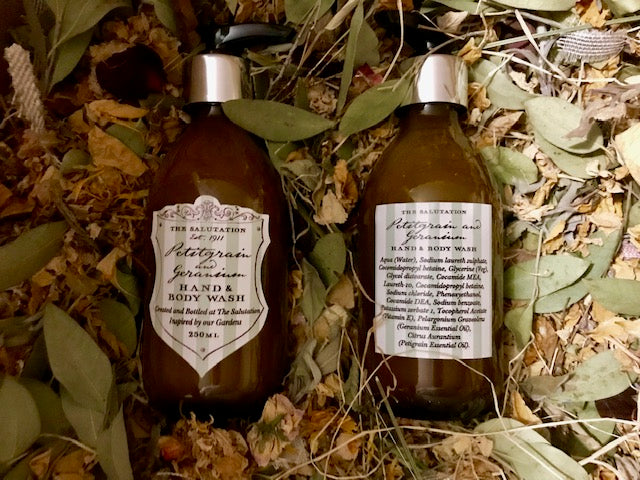 Hand and Body Wash - Petigrain and Geranium