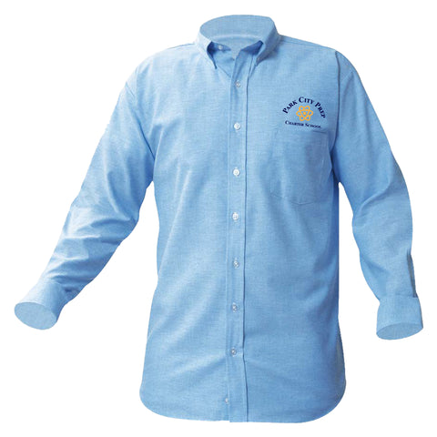Park City Prep Long Sleeve Blue Oxford